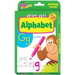 Alphabet Wipe Off Activity Cards By Trend Enterprises