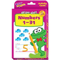Numbers 1-31 Wipe Off Activity Cards By Trend Enterprises