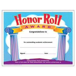 Certificate Honor Roll Award 30/Pk 8-1/2 X 11 By Trend Enterprises