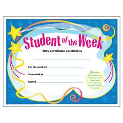 Certificate Student Of The 30/Pk Week 8-1/2 X 11 By Trend Enterprises