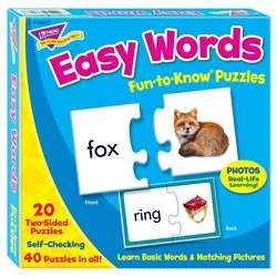 Fun-To-Know Puzzles Easy Words By Trend Enterprises