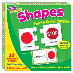 Fun-To-Know Puzzlesshapes By Trend Enterprises