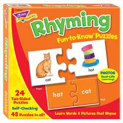 Fun To Know Puzzles Rhyming By Trend Enterprises