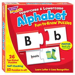 Fun To Know Puzzles Uppercase & Lowercase Alphabet By Trend Enterprises