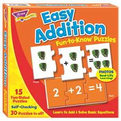Easy Addition Puz Fun-To-Know Puzzles By Trend Enterprises