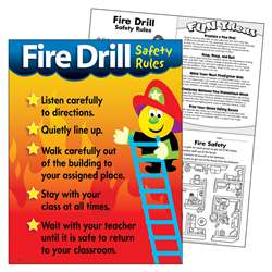 Chart Fire Drill Safety Rules By Trend Enterprises