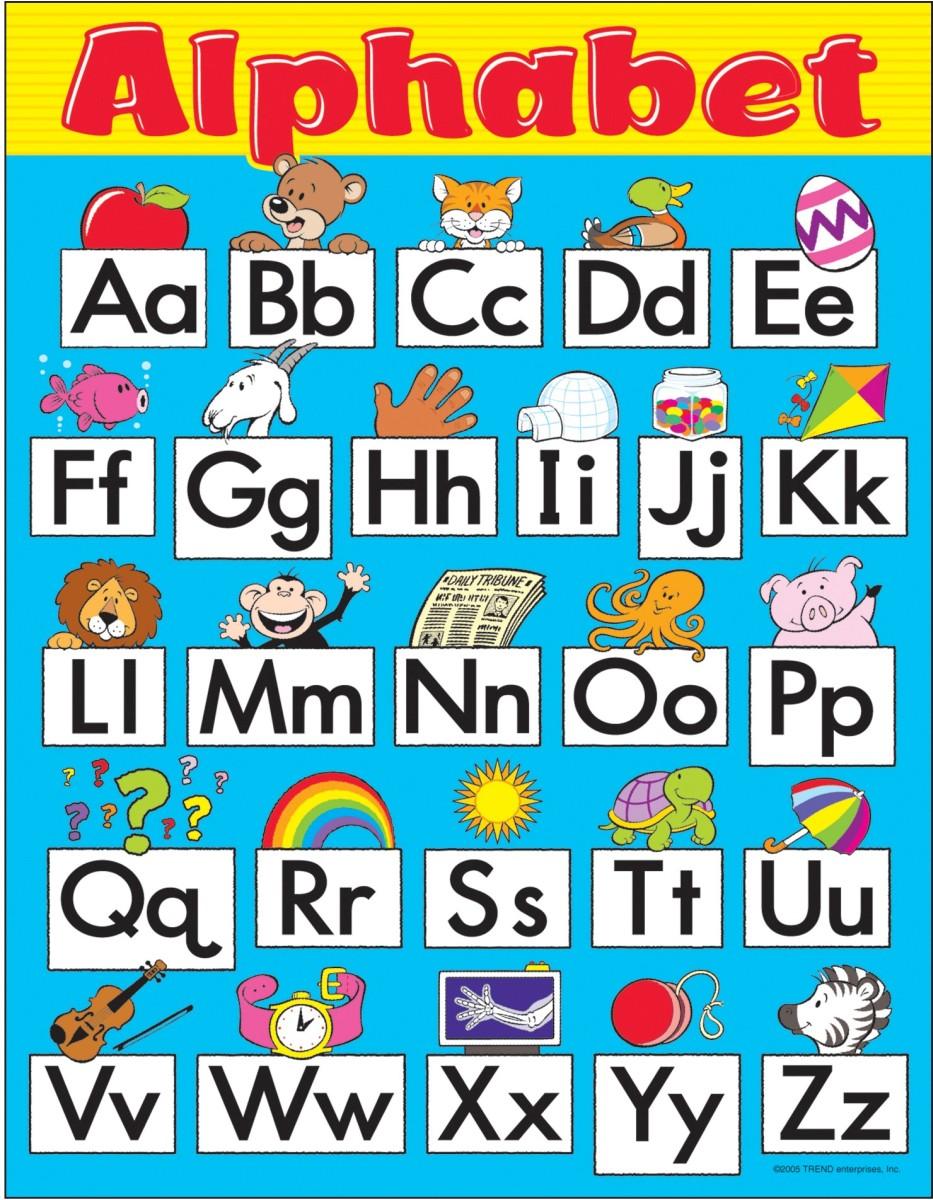 Worksheets Alphabet For Preschoolers chart alphabet fun preschool gd 1 by trend enterprises language enterprises