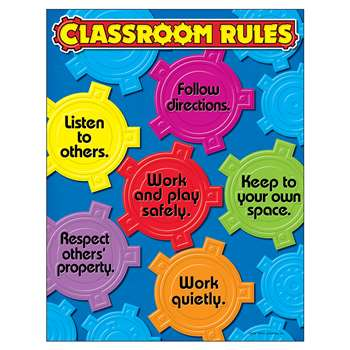 Learning Chart Classroom Rules By Trend Enterprises