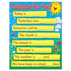 Learning Chart Calendar Companion By Trend Enterprises