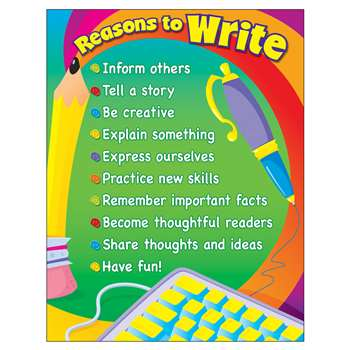 Learning Chart Reasons To Write By Trend Enterprises