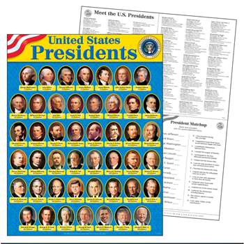 United States Presidents Learning Chart By Trend Enterprises