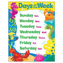 Days Of The Week Sea Buddies Learning Chart, T-38351
