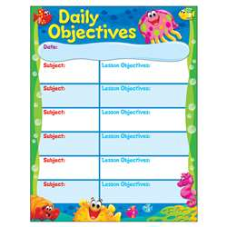 Daily Objectives Sea Buddies Learning Chart, T-38359