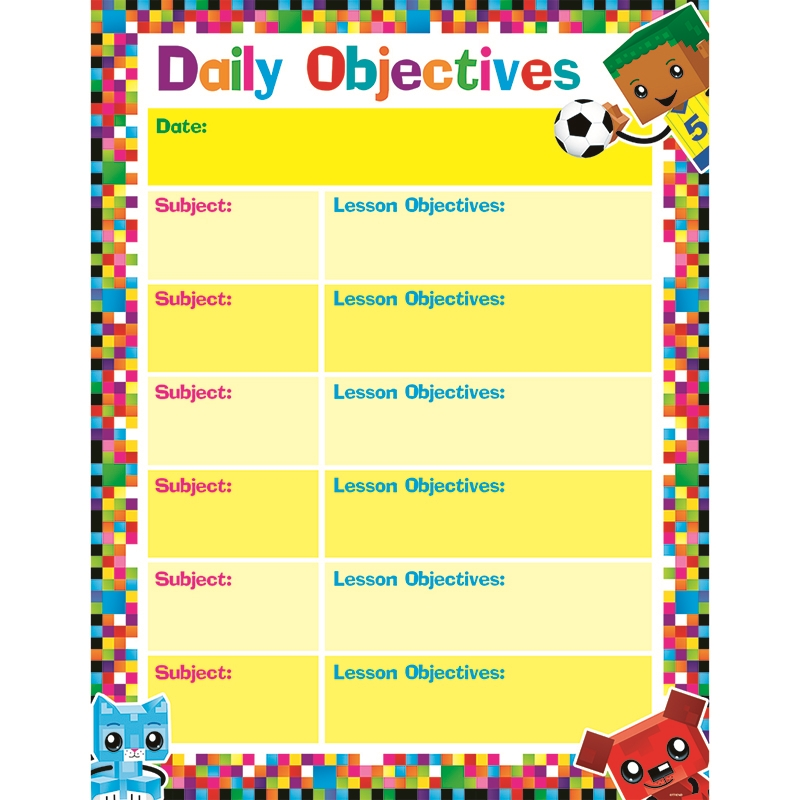 Pricing Objectives: Daily Objectives Blockstars Learning Chart T-38374 Trend