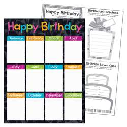 Birthday Color Harmony Learn Chart, T-38401
