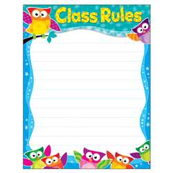 Class Rules Owl-Stars Learning Chart, T-38444