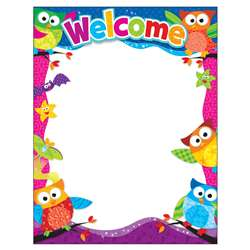 Welcome Owl Stars Learning Chart By Trend Enterprises