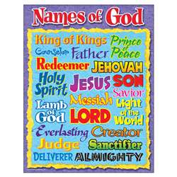 Names Of God Learning Chart By Trend Enterprises