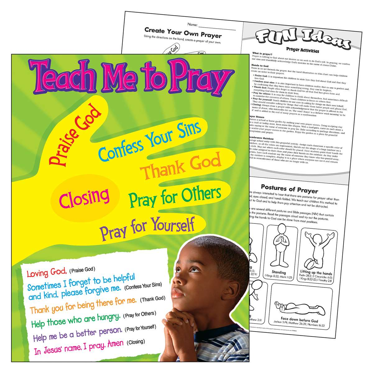 Teach Me To Pray Learning Chart - T-38704