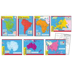 Combo Pks Continents Includes T38138 T38139 T38140 T38141 T38142 By Trend Enterprises