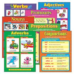 Chart Seven Parts Of Speech Gr 2-5 Includes T38159 T38160 T38161 By Trend Enterprises