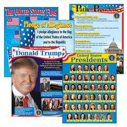 Us Presidents Learning Charts Combo Pack By Trend Enterprises