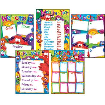 Classroom Basics Furry Friends Learning Chart Combo Pack By Trend Enterprises