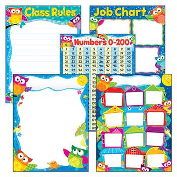 More Classroom Basics Owl-Stars Learning Charts Co, T-38974