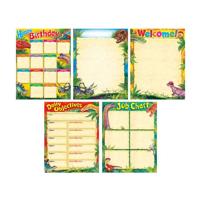 Discovering Dinosaurs Learning Charts Combo Pack, T-38978