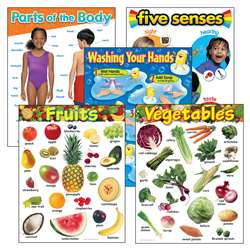 Healthy Living Learning Charts Combo Pack, T-38980