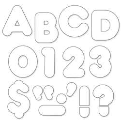 Ready Letters 2 Inch Casual White By Trend Enterprises
