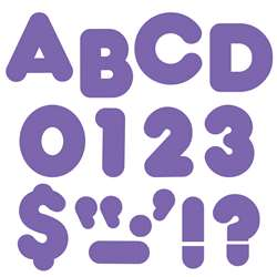 Ready Letters 2 Inch Casual Purple By Trend Enterprises