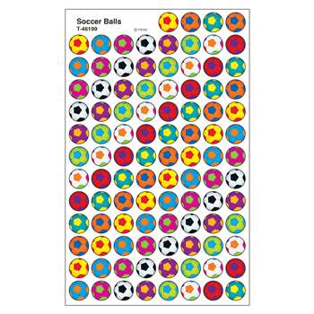 Soccer Balls Superspots Stickers, T-46199