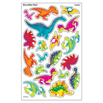 Dino-Mite Pals Supershapes Stickers Large, T-46331