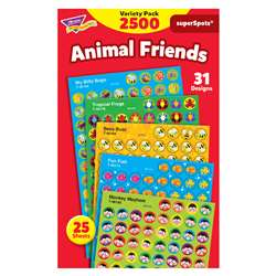Animal Friends Super Spots Stickers Variety Pk By Trend Enterprises