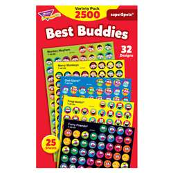 Best Buddies Collection Superspots Stickers Variety Pk By Trend Enterprises