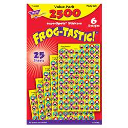 Frog Tastic Superspots Stickers Value Pack By Trend Enterprises