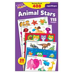 Animal Star Lg Variety Pack Stickers Supershapes, T-46928