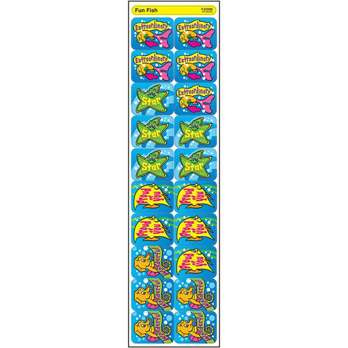 Applause Stickers Fun Fish By Trend Enterprises