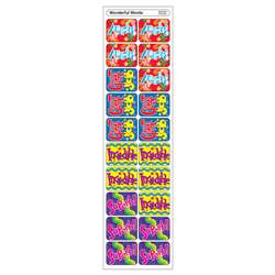 Applause Stickers Wonderful 100/Pk Words Acid-Free By Trend Enterprises