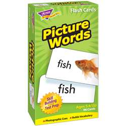 Flash Cards Picture Words 96/Box By Trend Enterprises