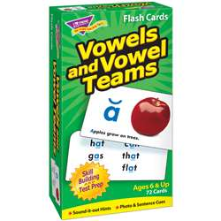 Flash Cards Vowels & Vowel Teams 72/Box By Trend Enterprises
