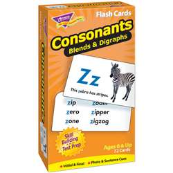 Flash Cards Consonants 72/Box By Trend Enterprises