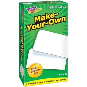 Flash Cards Make Your Own 100/Box By Trend Enterprises