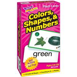 Flash Cards Colors Shapes 96/Box Numbers By Trend Enterprises