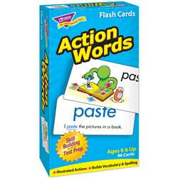 Flash Cards Action Words 96/Box By Trend Enterprises