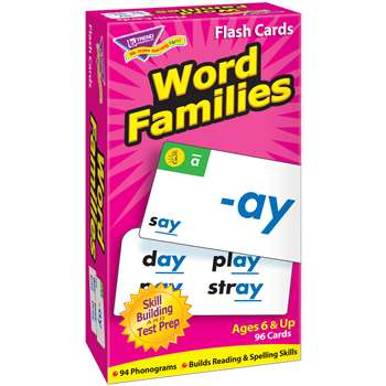 Flash Cards Word Families 96/Box By Trend Enterprises