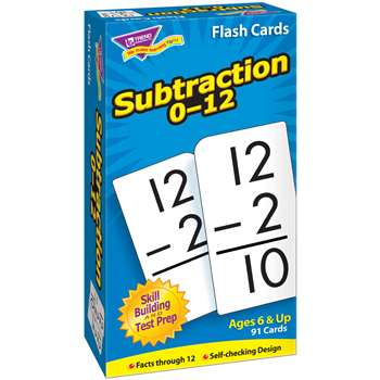 Flash Cards Subtraction 0-12 91/Box By Trend Enterprises