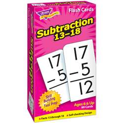 Flash Cards Subtraction 13-18 99Box By Trend Enterprises