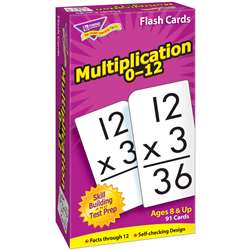 Flash Cards Multiplication 91/Box Numbers 0-12 By Trend Enterprises